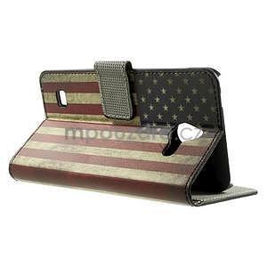 Peněženkové pouzdro na Huawei Ascend Y550 - USA vlajka - 2