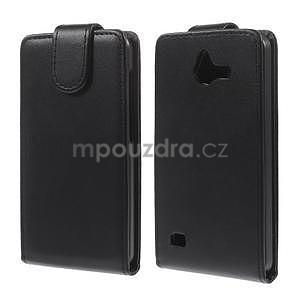 PU kožené flipové pouzdro na Huawei Ascend Y550 - 2