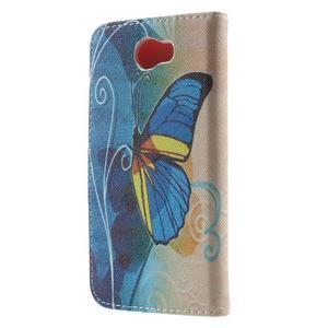 Emotive peněženkové pouzdro na Huawei Y5 II - modrý motýl - 2