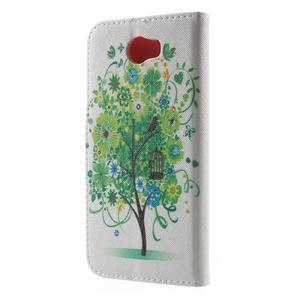 Emotive peněženkové pouzdro na Huawei Y5 II - zelený strom - 2