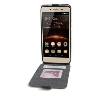 Flipové PU kožené pouzdro na Huawei Y5 II - černé - 2
