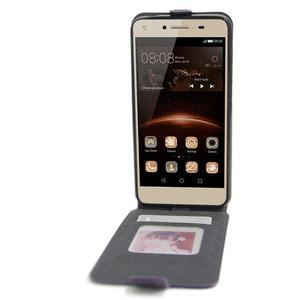 Flipové PU kožené pouzdro na Huawei Y5 II - fialové - 2