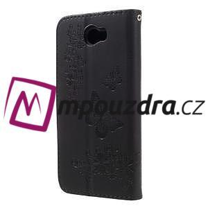 Butterfly PU kožené pouzdro na mobil Huawei Y5 II - černé - 2