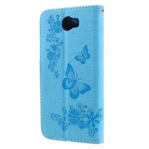Butterfly PU kožené pouzdro na mobil Huawei Y5 II - světlemodré - 2