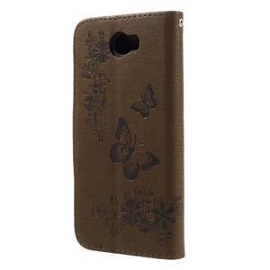 Butterfly PU kožené pouzdro na mobil Huawei Y5 II - hnědé - 2