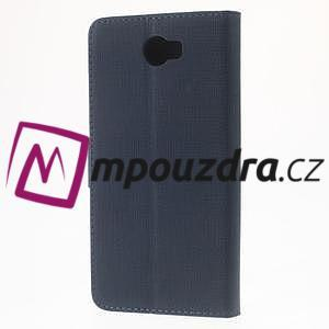Clothy peněženkové pouzdro na Huawei Y5 II - tmavěmodré - 2