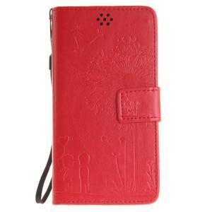 Dandelion PU kožené pouzdro na Huawei Y5 II - červené - 2