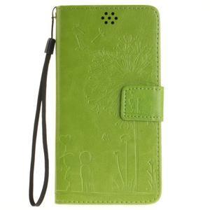 Dandelion PU kožené pouzdro na Huawei Y5 II - zelené - 2