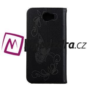 Motýlí peněženkové pouzdro na Huawei Y5 II - černé - 2
