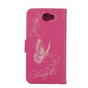 Motýlí peněženkové pouzdro na Huawei Y5 II - rose - 2