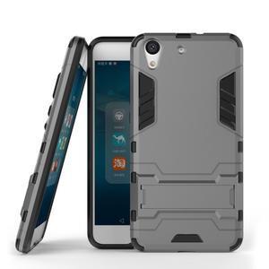 Outdoor odolný obal na mobil Huawei Y6 II a Honor 5A - šedý - 2