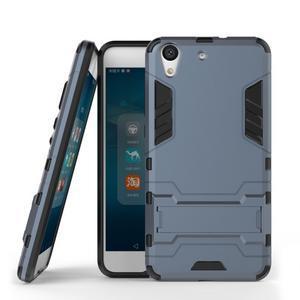 Outdoor odolný obal na mobil Huawei Y6 II a Honor 5A - šedomodrý - 2