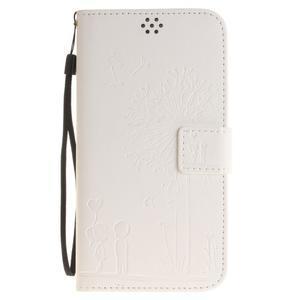Dandelion PU kožené pouzdro na Huawei Y6 II a Honor 5A - bílé - 2