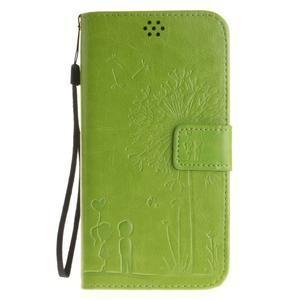 Dandelion PU kožené pouzdro na Huawei Y6 II a Honor 5A - zelené - 2