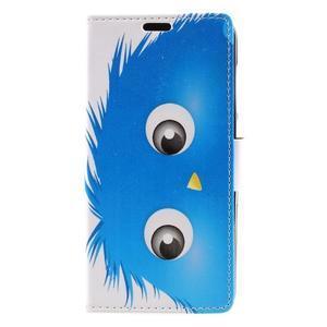 Emotive peněženkové pouzdro na Huawei Y6 II Compact - modrá příšera - 2