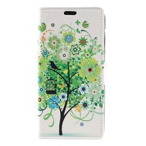 Emotive peněženkové pouzdro na Huawei Y6 II Compact - zelený strom - 2