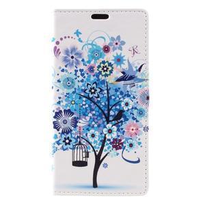 Emotive peněženkové pouzdro na Huawei Y6 II Compact - modrý strom - 2