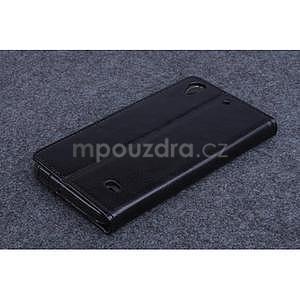 Černé PU kožené peněženkové pouzdro na Huawei Ascend G620s - 2