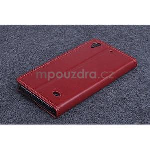 Hnědé PU kožené peněženkové pouzdro na Huawei Ascend G620s - 2
