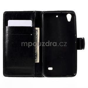 Peněženkové pouzdro na Huawei Ascend G620s - černé - 2