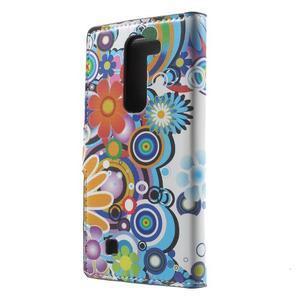 Pěněženkové pouzdro na LG G4c H525n - barevné květiny - 2