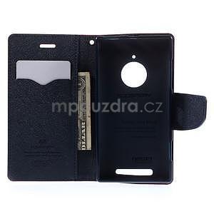 PU kožené peněženkové pouzdro na Nokia Lumia 830 - červené - 2