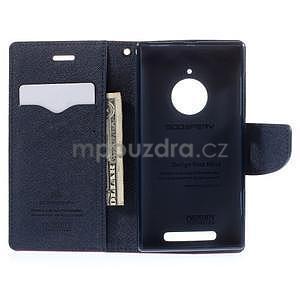 PU kožené peněženkové pouzdro na Nokia Lumia 830 - rose - 2