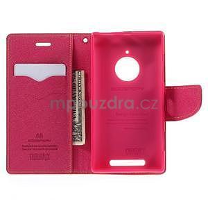 PU kožené peněženkové pouzdro na Nokia Lumia 830 - žluté - 2