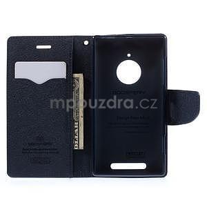 PU kožené peněženkové pouzdro na Nokia Lumia 830 - fialové - 2