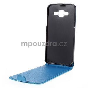 Flipové pouzdro na Samsung Galaxy J5 - modré - 2