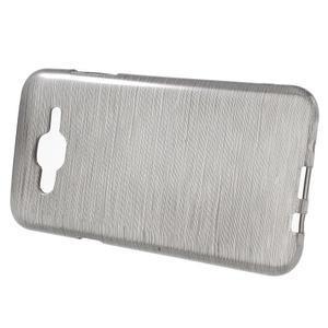Broušený gelový obal na Samsung Galaxy J5 - šedý - 2