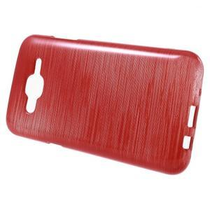 Broušený gelový obal na Samsung Galaxy J5 - červený - 2