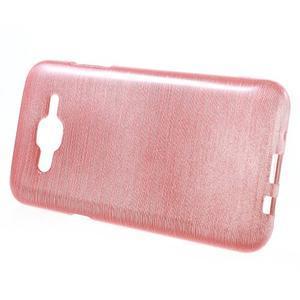 Broušený gelový obal na Samsung Galaxy J5 - růžový - 2