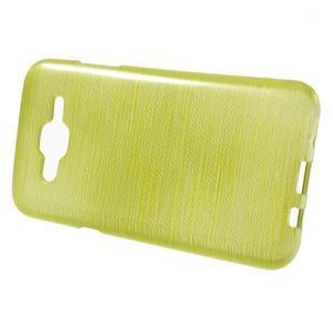 Broušený gelový obal na Samsung Galaxy J5 - zelenožlutý - 2