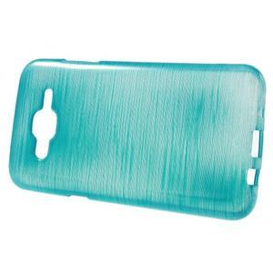 Broušený gelový obal na Samsung Galaxy J5 - tyrkysový - 2