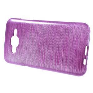 Broušený gelový obal na Samsung Galaxy J5 - fialový - 2