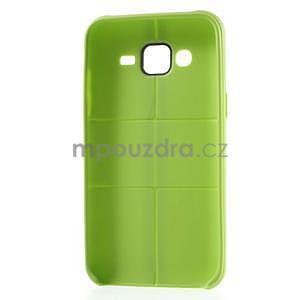 Gelový kryt se švy na Samsung Galaxy J5 - zelený - 2