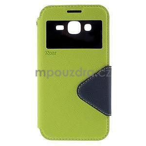PU kožené pouzdro s okýnkem pro Samsung Galaxy J5 - zelené - 2