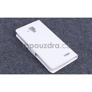 Koženkové pouzdro na mobil Lenovo A536 - bílé - 2