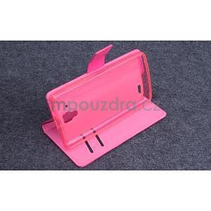 Koženkové pouzdro na mobil Lenovo A536 - rose - 2