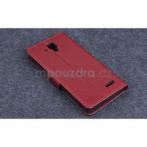 Koženkové pouzdro na mobil Lenovo A536 - hnědé - 2
