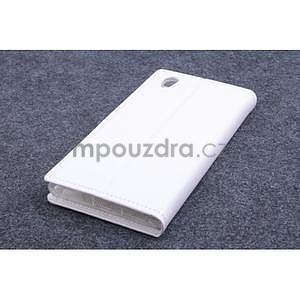 Peněženkové PU kožené pouzdro na Lenovo P70 - bílé - 2