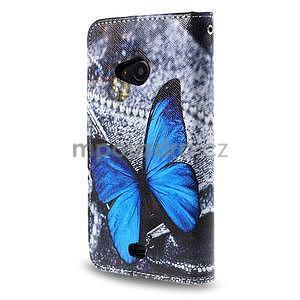 Safety pouzdro na mobil Microsoft Lumia 535 - modrý motýl - 2