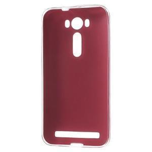 Gelový obal s jemným koženkovým plátem na Asus Zenfone 2 Laser ZE500KL  - rose - 2