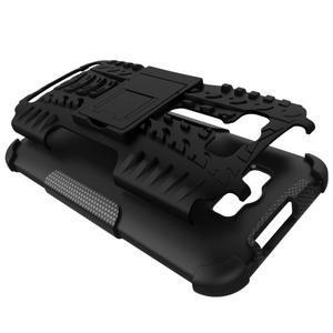 Outdoor odolný kryt se stojánkem na Asus Zenfone 2 Laser ZE500KL - černý - 2