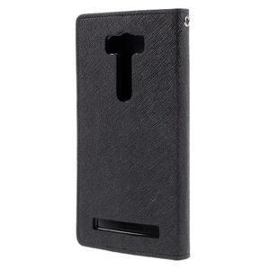 Diary stylové pouzdro na Asus Zenfone 2 Laser - černé - 2