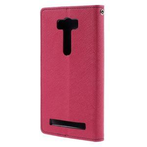 Diary stylové pouzdro na Asus Zenfone 2 Laser - rose - 2