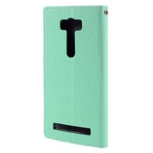 Diary stylové pouzdro na Asus Zenfone 2 Laser - azurové - 2