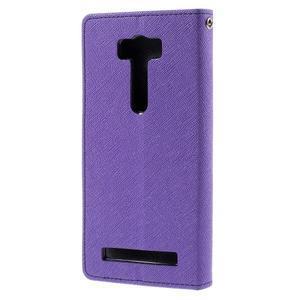 Diary stylové pouzdro na Asus Zenfone 2 Laser - fialové - 2