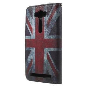 Koženkové pouzdro na Asus Zenfone 2 Laser - UK vlajka - 2